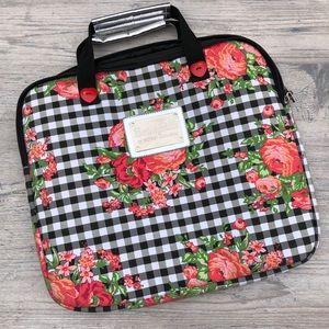 Betsey Johnson Gingham Floral Laptop Case